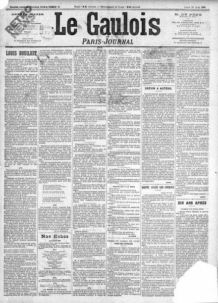 File:Maupassant - Louis Bouilhet, paru dans Le Gaulois, 21 août 1882.djvu