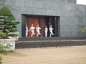 Ho Chi Minh Mausoleum - Changing of the guards at the mausoleum