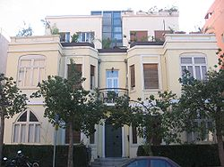 """בית מגורים בסגנון האקלקטי בתכנונו של עקיבא אריה ויס ברחוב מזא""""ה"""