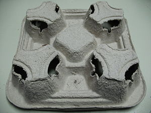 Molded pulp - Image: Mc Donalds Molded Pulp Drink Tray Bottom