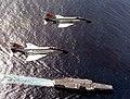 McDonnell F-4N Phantom IIs of VF-301 in flight over USS Ranger (CV-61), circa in 1977 (NNAM.1996.253.7306.006).jpg