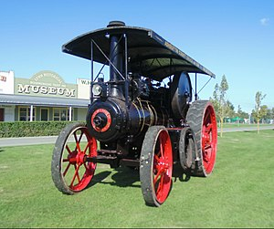 The Plains Vintage Railway & Historical Museum - Image: Mc Laren Traction Engine No. 1718 of 1925
