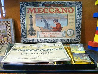 Meccano - An early Meccano set on display in the Edinburgh Museum of Childhood