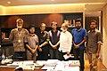 Members of Wikimedia Bangladesh with Matiur Rahman, the editor of daily Prothom Alo.jpg