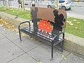 Memorial bench by Leeds War Memorial (14th November 2018).jpg