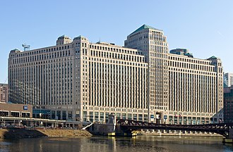 WMAQ (AM) - The Merchandise Mart: WMAQ was here for the years it was owned by NBC.