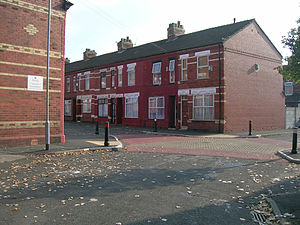 Longsight - Much of the housing stock of Longsight consists of red-brick terraced houses
