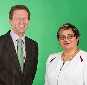 New Zealand general election, 2014 - Image: Metiria Turei and Russel Norman crop