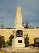Le monument aux morts en 2017.