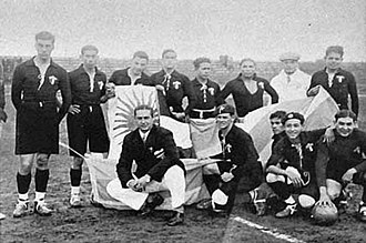 Mexico national football team - The Mexico national team before the first ever World Cup game against France in 1930.