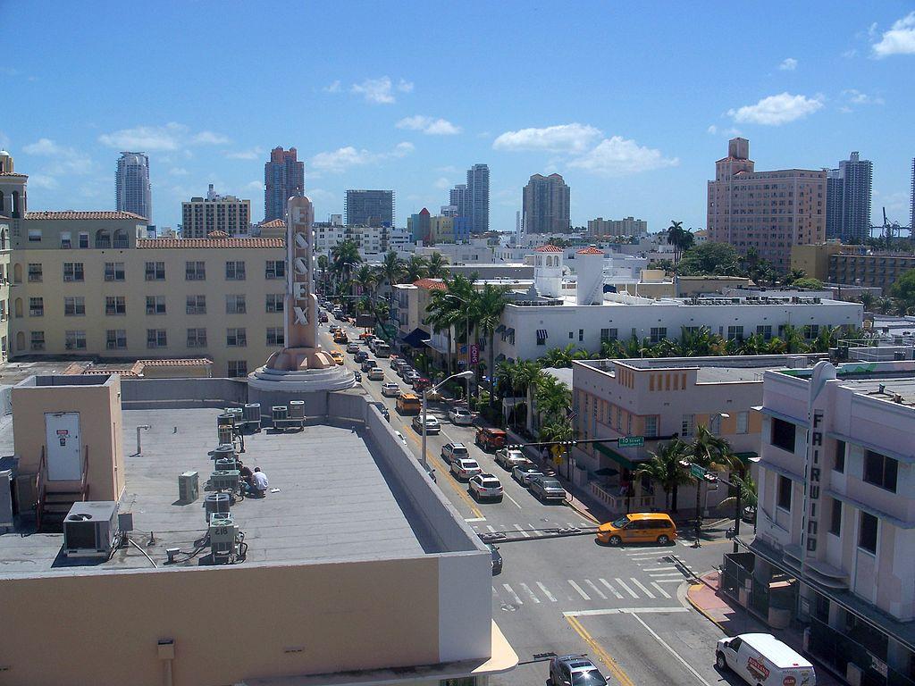 Collins Avenue Miami Beach Florida  Usa