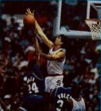 Rony Seikaly - Seikaly (center) playing with Syracuse in 1987-88