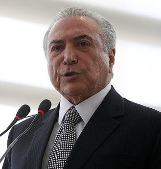 10th BRICS summit - Image: Michel Temer Cerimônia de Posse do Ministro da Cultura (35459304184) (cropped)