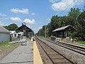 Mini-high platforms at North Billerica station, July 2015.JPG