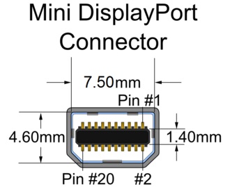 Mini DisplayPort - Image: Mini Display Port (connector)