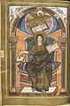 Miniature of an Evangelist portrait of John - Harley Golden Gospels (early 9th C), f.161v - BL Harley MS 2788.jpg