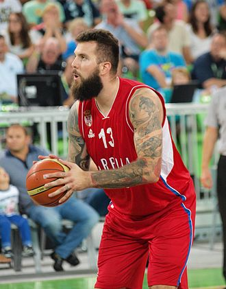 Miroslav Raduljica - Raduljica playing for Serbia in 2015