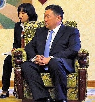 Prime Minister of Mongolia - Image: Miyeegombyn Enkhbold July 2016