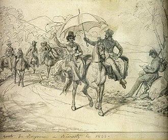 Pannier - Image: Mme Bellanger née Péan de St Gilles et autoportrait, 1833