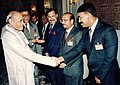 Mohammad Mosaddak Ali met with Prime Minister of India P. V. Narasimha Rao atBangabhaban in Dhaka.jpg