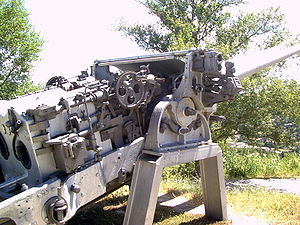 152 mm /53 Italian naval gun Models 1926 and 1929 - Image: Montecuccoli gun 2
