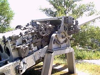 Italian cruiser Raimondo Montecuccoli - Image: Montecuccoli gun 2