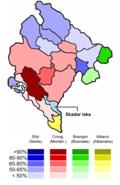 Montenegro ethnic map 2003