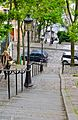 Montmartre hills going down, Paris 26 May 2014.jpg