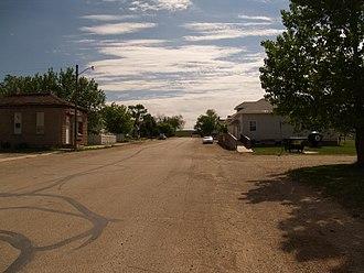Montpelier, North Dakota - Business district of Montpelier