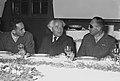 Mordechai Maklef, David Ben Gurion and Moshe Dayan. 1953 D651-013.jpg