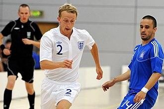 Sheffield Futsal Club - Former Sheffield Futsal Club player Ben Mortlock representing England