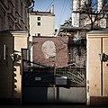 Moscow, Sadovnicheskaya Street, gates of MOGES-1 powerplant.jpg
