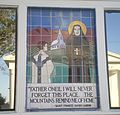 Mother Cabrini Mosaic at St. Robert Bellarmine School.JPG