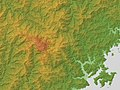 Mount Ōdaigahara Relief Map, SRTM-1.jpg
