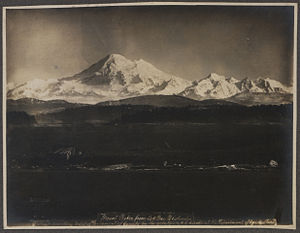 Mount Baker - Mount Baker from Oak Bay, British Columbia, 1903, Photo: Charles Edward Clarke