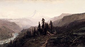 Mount Hood - William Keith (American, 1838–1911). Mount Hood, Oregon, ca. 1881–1883. Brooklyn Museum