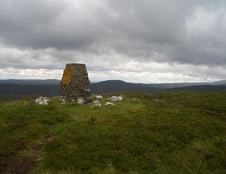 Moel y Cerrig Duon mountain in United Kingdom