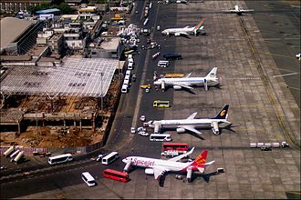 Chhatrapati Shivaji Maharaj International Airport - Terminal 1B being expanded in 2006