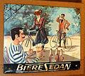 Musée Européen de la Bière - Biere Sedan, enamel advertising sign.JPG