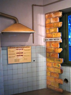 Museum of the Liberation of Rome - Via Tasso 145, Rome. The kitchen was converted into a cell by the SS.