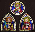 Museo di santa croce, vetrate su disegno di giotto.JPG