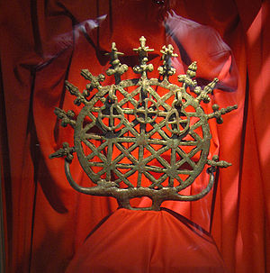 Hittites - Bronze religious standard from a pre-Hittite tomb at Alacahöyük, dating to the third millennium BC, from the Museum of Anatolian Civilizations, Ankara.