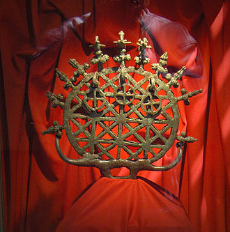 Hittites - One of the Alaca Höyük bronze standards from a pre-Hittite tomb dating to the third millennium BC, from the Museum of Anatolian Civilizations, Ankara.