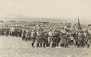 Battle of Ayun Kara - Turkish Army troops, on the Plain of Esdraelon in 1914