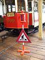 Muzeum MHD, tramvaj 999 a označení pracovního místa.jpg