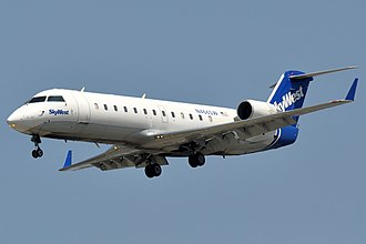 Regional airliner - The Bombardier CRJ100/200 was introduced in 1992