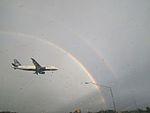 N566JB and Double Rainbow (32680809140).jpg