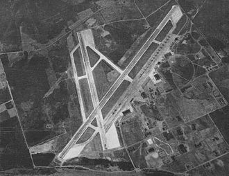 Naval Air Station Whidbey Island - Aerial view of NAS Whidbey Island in the mid-1940s