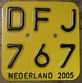 NETHERLANDS 2005 -MOPED-SCOOTER PLATE - Flickr - woody1778a.jpg