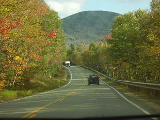 New Hampshire Route 112 - View along the Kancamagus Highway in the White Mountain National Forest